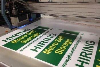 Digitally printed signs